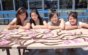 Senior Bench Painting - August 2011