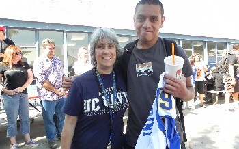 Homecoming Football Players with Teachers - October 2011