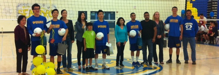 Boys Volleyball Senior Night 2013