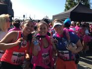Mrs. Kashanian finishing a half marathon with Ms. Gunn and Mrs. Carvalho