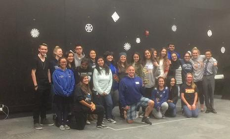 KRON Director Will Adams visits SCHS Theatre Dept.