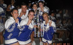 Seniors with 1st place trophy at Jamz Regionals 2010